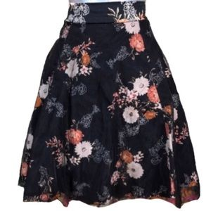 Torrid Floral Layered Tulle Skirt Size 00